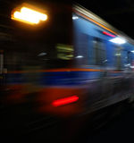 Train moving blurred motion, abstract transport Stock Photo