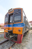 Train. Moving Train travel transport in thailand Royalty Free Stock Images