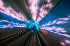 Train moving in Tunnel -Abstract View Stock Photos