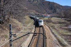 Train moyen de distance Image libre de droits