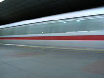 Train (MRT) blurred by speed Stock Photos