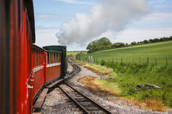 Steam Train on a Narrow Guage Railway Royalty Free Stock Photography