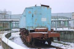 Train near new reactor shelter at Chernobyl, Ukraine. Train near new big reactor shelter at Chernobyl, Ukraine Stock Photos