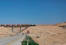 train in the Negev desert Stock Photo