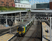 Train in New Street Station, Birmingham. Royalty Free Stock Photos
