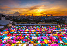 Train Night Market Ratchada - Bangkok Royalty Free Stock Images