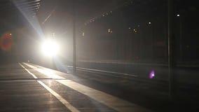 Train night transport stock footage