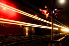 Train at night Royalty Free Stock Image