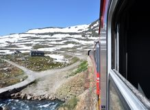 Train in Norway Stock Photography