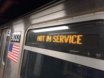 Not In Service, New York City Subway, NYC, NY, USA royalty free stock photo