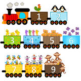 Train with number of animals. Vector illustration, eps Stock Photos