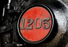 Train numbers.NZ railways. Royalty Free Stock Photography