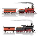 Train occidental sauvage de vapeur illustration stock