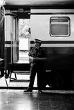 Train officials working at Chiangmai Railway Station Stock Photos