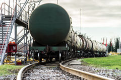 Train with oil tanks Stock Photos