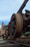 Train old rust weels Stock Image