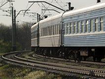 Train On Curve Stock Photo
