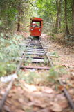 Train orange Photos libres de droits