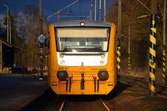 Train orange de moteur de moteur Photos libres de droits
