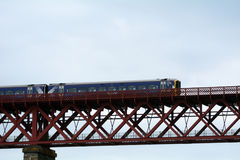 Train over the Firth of Forth, South Queensferry, Scotland. Train over the Firth of Forth in South Queensferry, Scotland Stock Photo