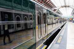 Train at Paddington station in London Stock Photography