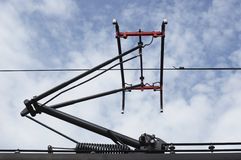 Train pantograph Stock Photography