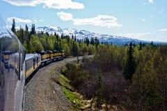 Train par l'Alaska Photo libre de droits