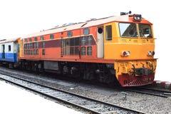 Train par la gare ferroviaire Images libres de droits