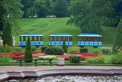 Train in the park. Small train in the park for child play Royalty Free Stock Photo