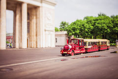 Train in the park. Royalty Free Stock Photography