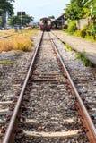 Train parking Stock Image