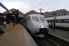 TRAIN PASSENGER AT COPENHAGEN CENTRAL TRAIN STATION Royalty Free Stock Images