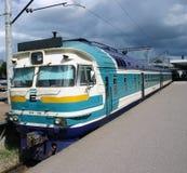 Train passenger at a platform Royalty Free Stock Images