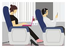 Train passenger and their activity Stock Photo
