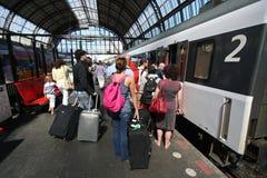 Train Passengers Royalty Free Stock Photography