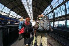Train Passengers Stock Photo