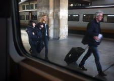 Train passengers Royalty Free Stock Photo