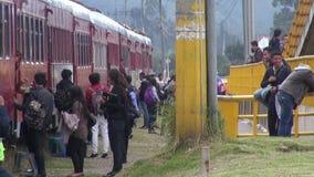 Train Passengers, Travelers, People stock video