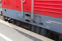 Train passes with speed Royalty Free Stock Photo
