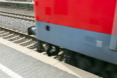 Train passes with speed Stock Image