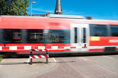 Train passing by Royalty Free Stock Photo