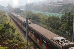Train passing Fanling Royalty Free Stock Photo