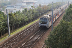 Train passing Fanling Stock Photography