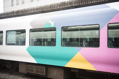 Train passing by in Japan Royalty Free Stock Image