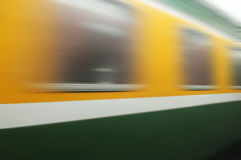Train passing by. Motion blur Stock Image