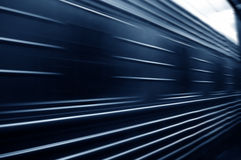 Train passing by. Motion blur Royalty Free Stock Photo
