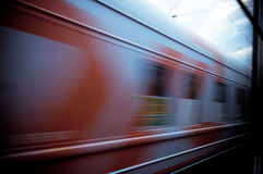 Train passing by. Motion blur Royalty Free Stock Image