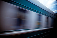 Train passing by. Motion blur Royalty Free Stock Photos