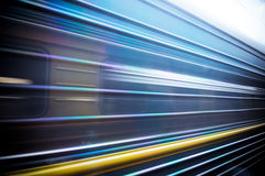 Train passing by. Motion blur Stock Images