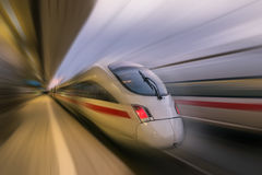Train Passing Station Royalty Free Stock Images